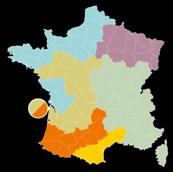 Une carte de France en couleurs