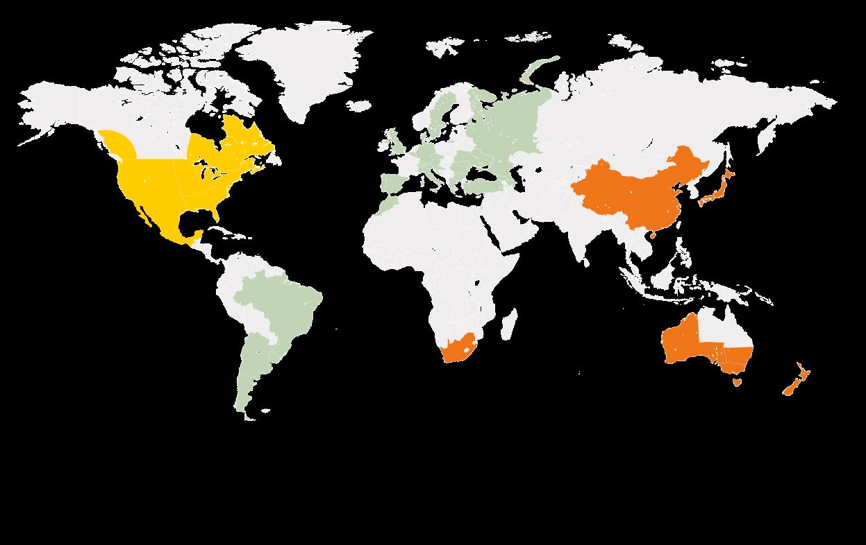 Une carte du Monde en couleurs